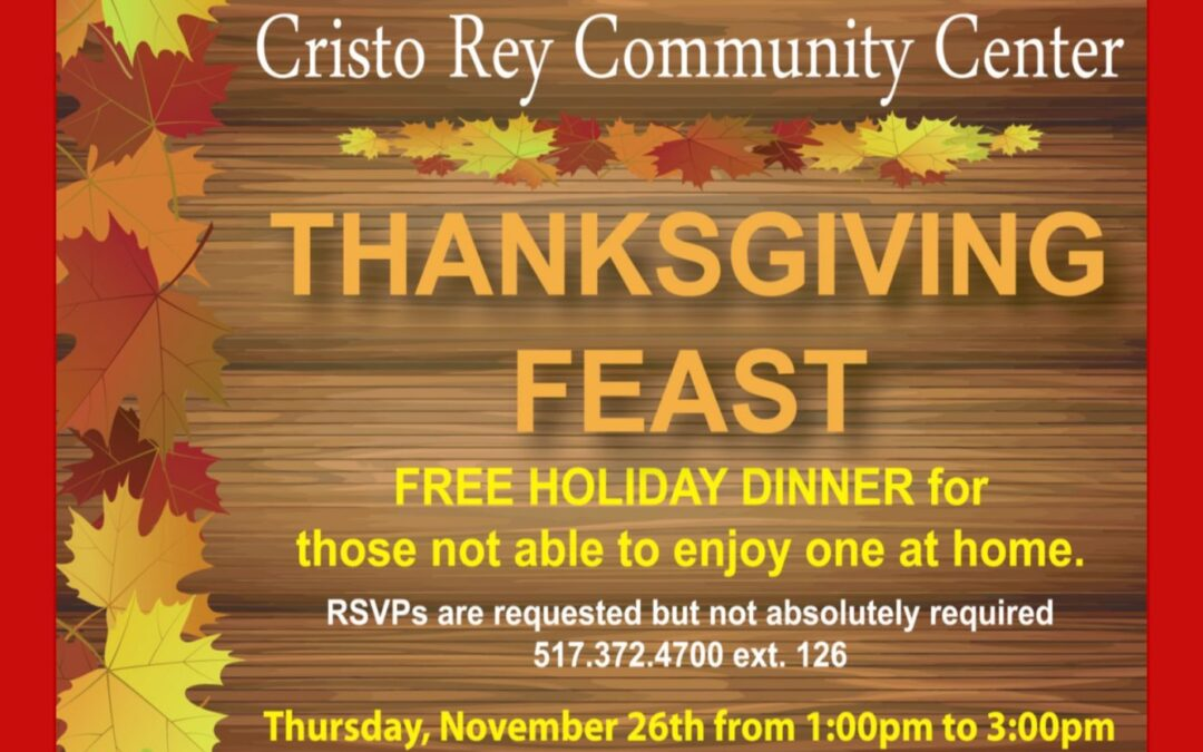 CRCC Annual Thanksgiving Dinner!