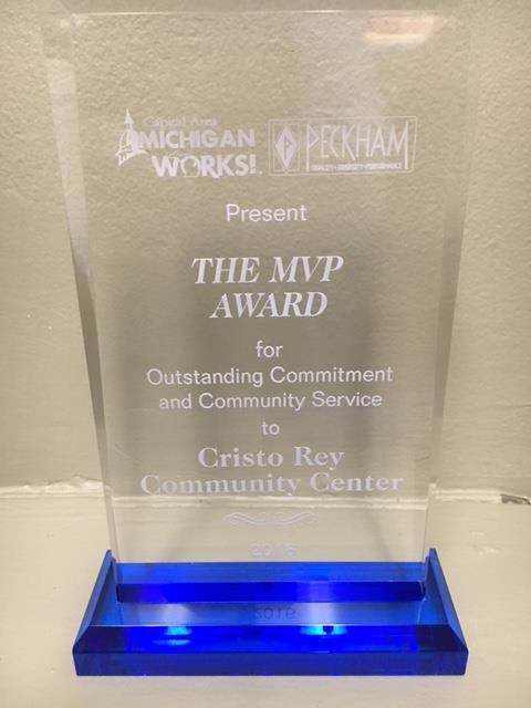 CRCC awarded MVP for Outstanding Commitment and Community Service